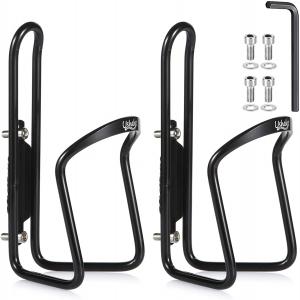 USHAKE Water Bottle Cages, Basic MTB Bike Bicycle Alloy Aluminum Lightweight Water Bottle Holder Cages Brackets